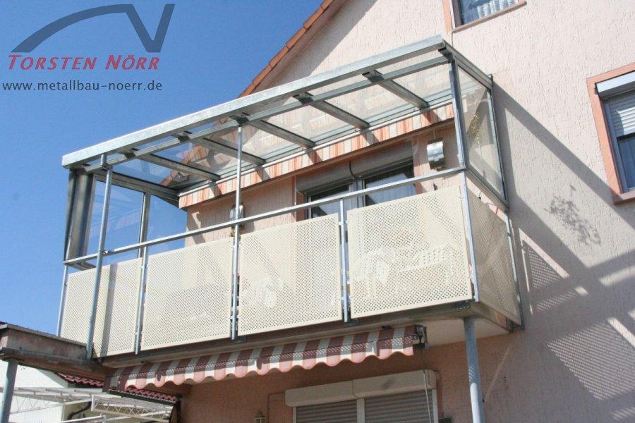 Balkonüberdachungen balkonüberdachung mit windschutz torsten nörr schlosserei metallbau