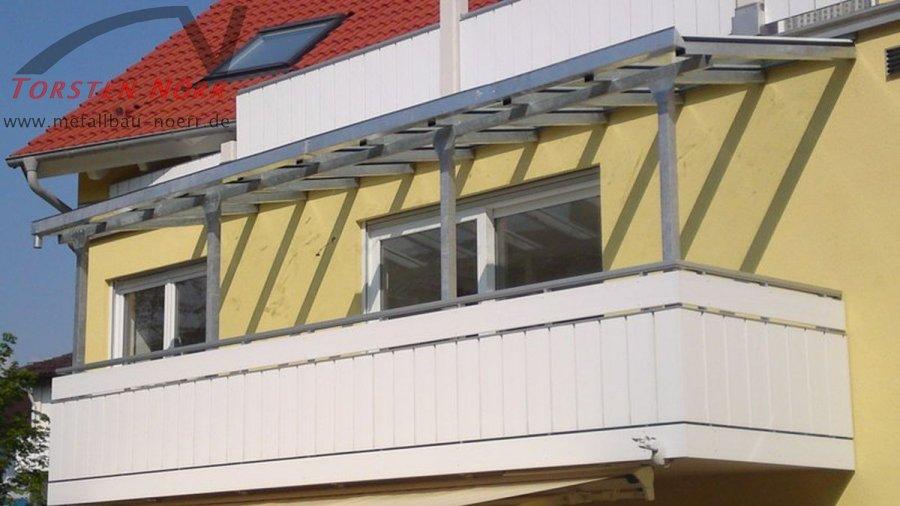 Balkonuberdachung Verzinkt Torsten Norr Schlosserei Metallbau