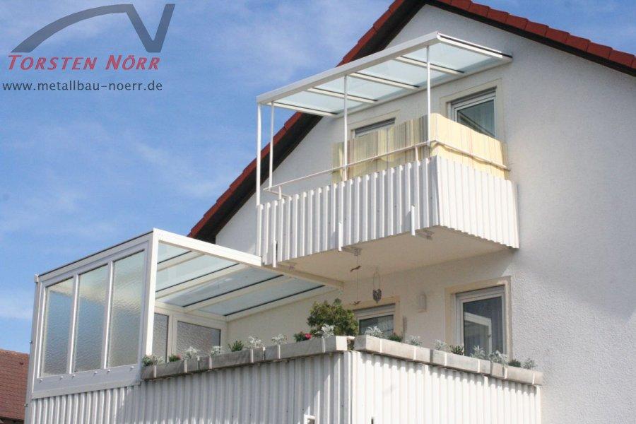 Balkonuberdachung Teilverglast Torsten Norr Schlosserei Metallbau