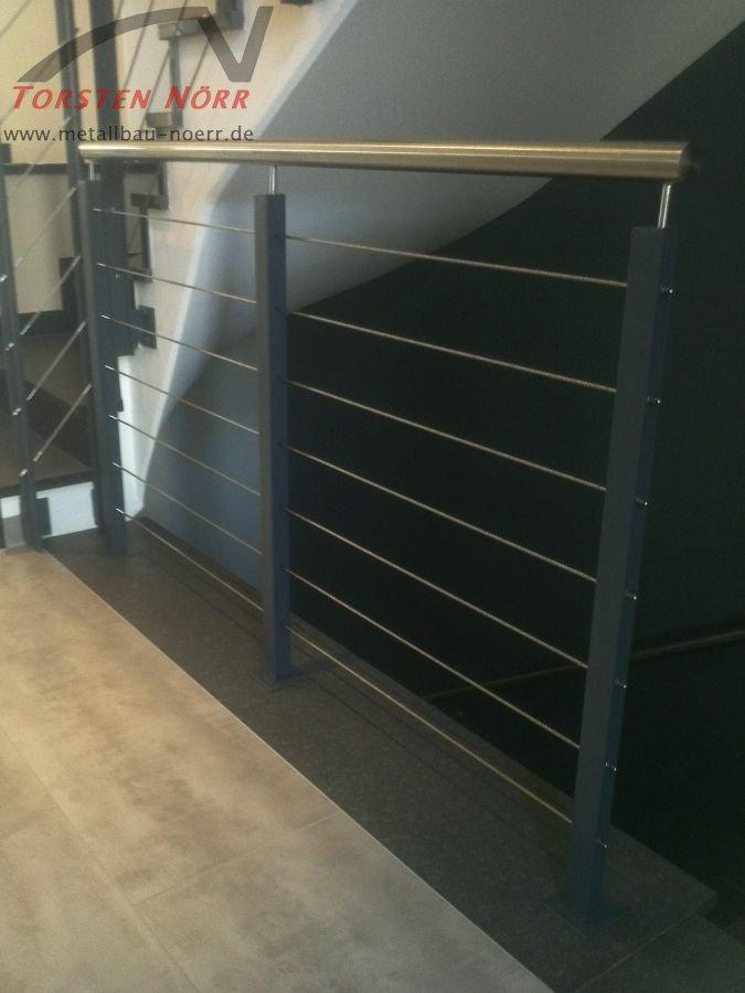 treppengel nder stahl seile torsten n rr schlosserei. Black Bedroom Furniture Sets. Home Design Ideas